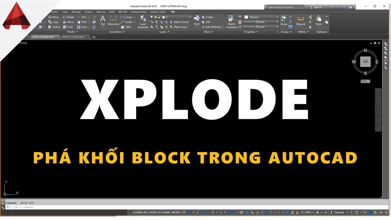 Không thể phá khối EXPLODE được Block trong autocad // Lệnh X (xplode) // Mẹo vặt autocad
