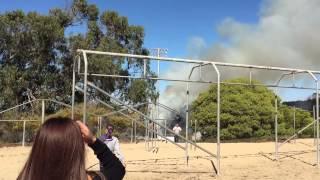 Fire ignites near Seaside High School football field