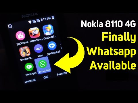 Nokia 8110 4G | Finally Whatsapp Update Available | How To Install ?
