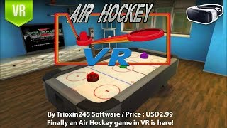 Air Hockey VR for Gear VR - Finally an Air Hockey game in VR.