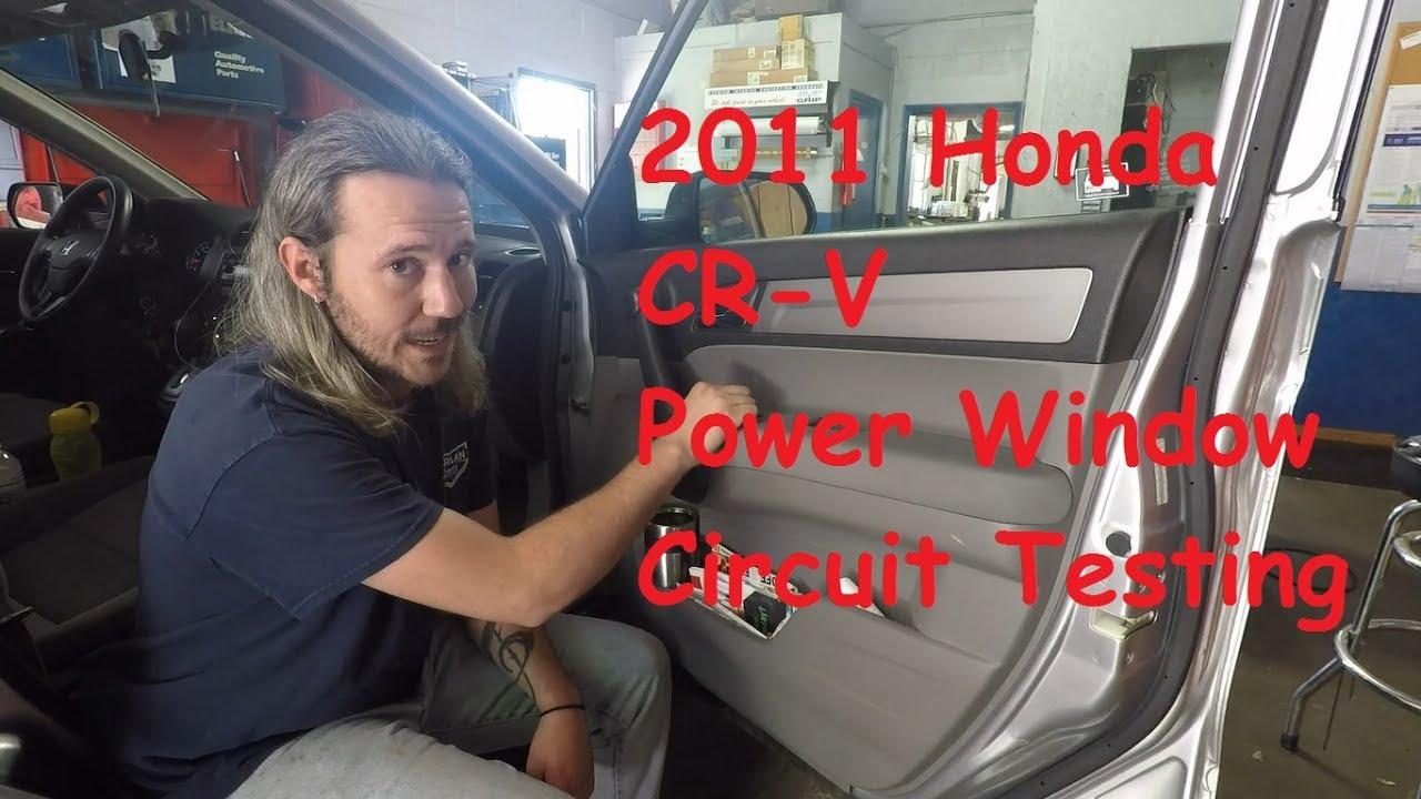 Honda Cr V Power Window Testing Youtube