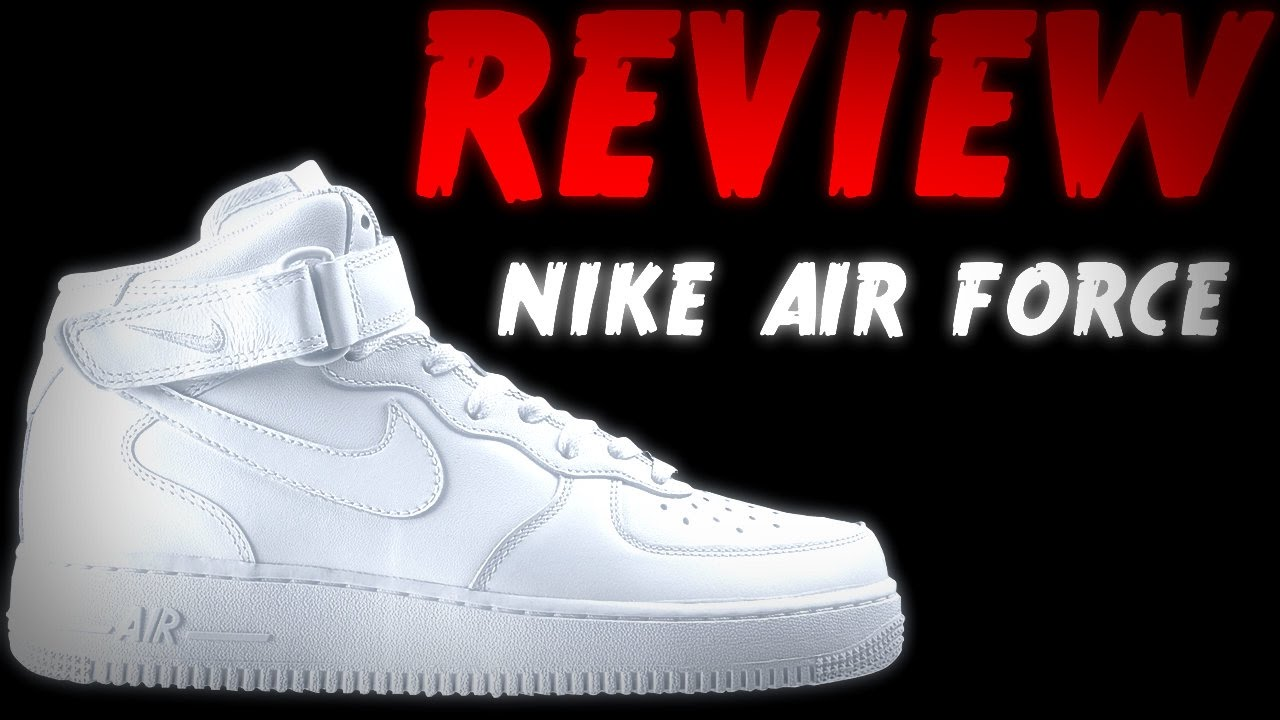 cde0d56eab6d0 REVIEW NIKE AIR FORCE WHITE  MID BLANCOS  MEDIA BOTA 2017 - YouTube