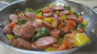 Kielbasa Sausage Peppers And Onions Recipe Low Carb  Episode 237
