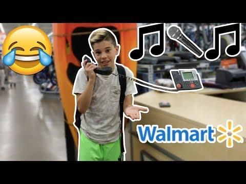 "SINGING ""DESPACITO"" ON THE WALMART INTERCOM! (KICKED OUT)"