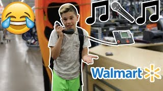 "SINGING ""DESPACITO"" ON THE WALMART INTERCOM! (KICKED OUT)"