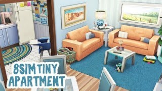 8 SIMS 1 TINY APARTMENT! || The Sims 4 Apartment Renovation: Speed Build