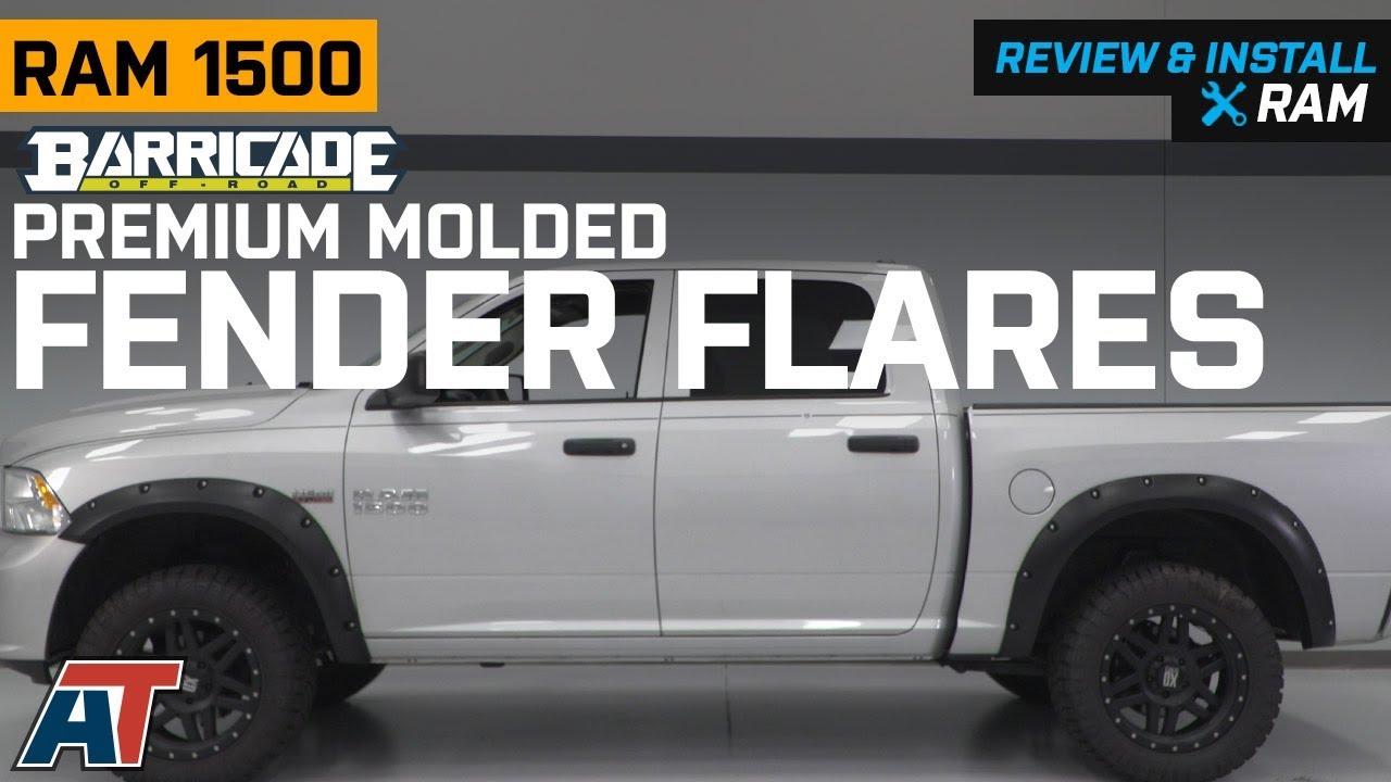 DODGE RAM 1500 2009-2018 PREMIUM STREET FENDER FLARES MATTE BLACK NEW