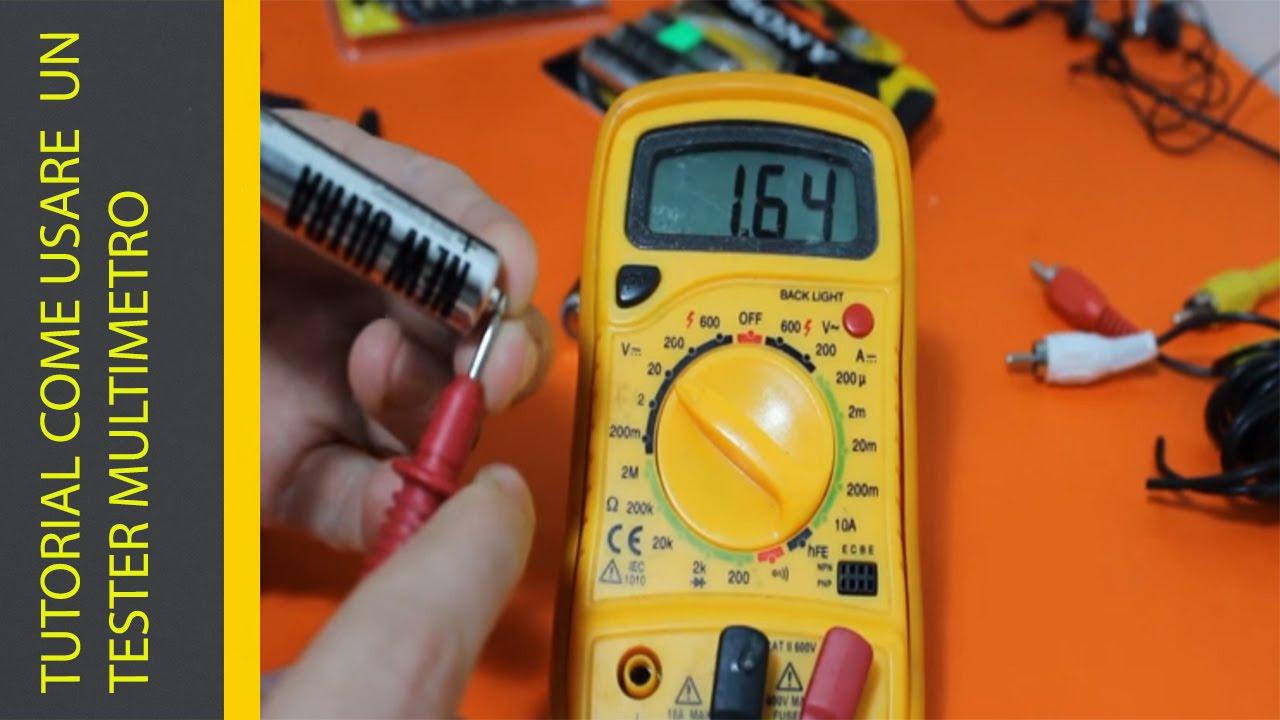 Come usare un Multimetro (Tester) con immagini | Nicola Reat