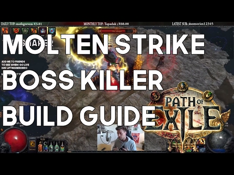Molten Strike Brutus Lead Sprinkler Build Guide - Amazing Boss Killer! Path of Exile