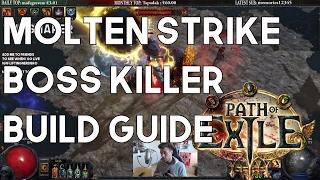 Molten Strike Brutus Lead Sprinkler Build Guide - Amazing Boss Killer! Path of Exile