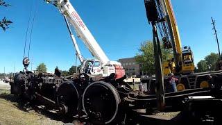 NKP #624 Steam Locomotive Flying in Hammond Must see !!!