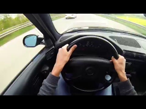 BMW E34 M5 Autobahn Race Fun/ Acceleration