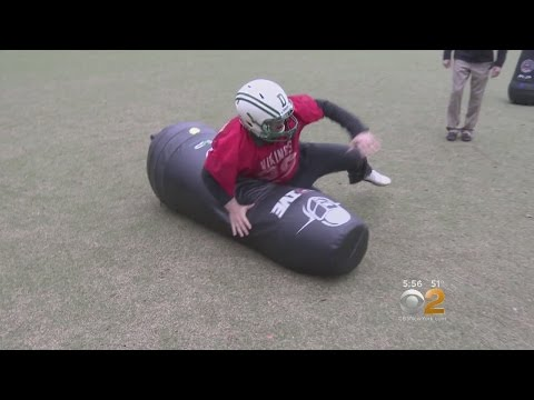Testing Out Football Tackling Dummies