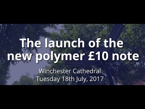 The unveiling of the Jane Austen £10 banknote - Winchester Cathedral