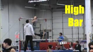 Thor's 2nd gymnastics season..Lvl 4/Age 7.Michigan Open..Southgate, MI..3-9-2014
