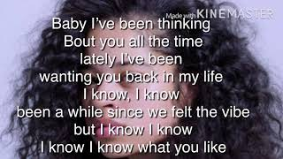 Ella Mai Makes Me Wonder lyrics Video