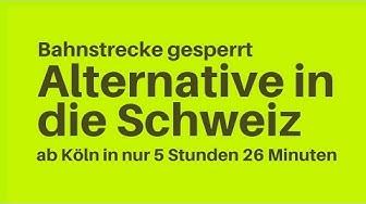 alternative Bahnverbindung Schweiz