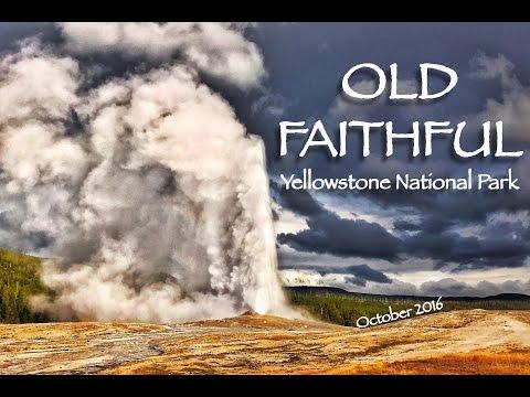 Old Faithful Geyser at eruption - Yellowstone [HD]