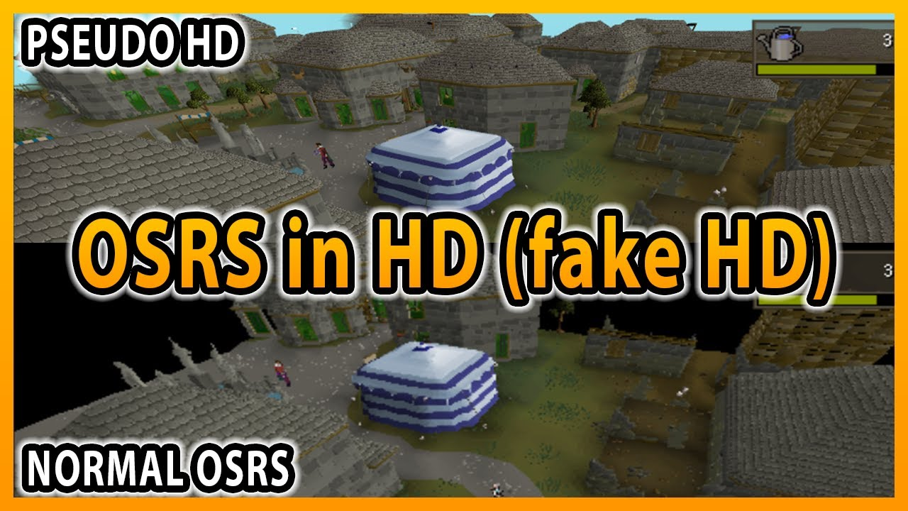OSRS | This is how I play OSRS in HD | Pseudo HD | Fake HD | highest  quality graphics with Runelite