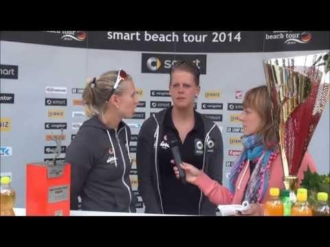Karla Borger & Britta Büthe - die Deutschen Meisterinnen im Interview mit beach-volleyball.de