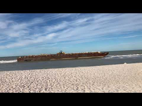 Beached Barges - BARGES RUN AGROUND