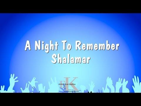 A Night To Remember  - Shalamar (Karaoke Version)