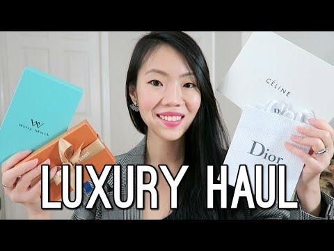 FIRST LUXURY HAUL OF 2018 | Louis Vuitton, Dior, Céline, Karen Walker, Welly Merck | FashionablyAMY