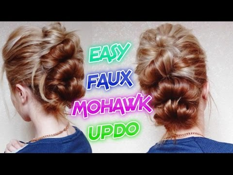 Easy Looped Faux Mohawk Updo Hairstyle Awesome Hairstyles Youtube