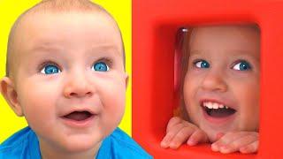 Peek A Boo Canción + otras Canciones Infantiles con Katya y Dima