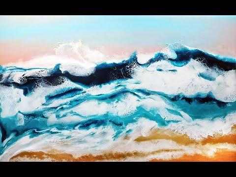 Resin Art Waves - Resin Ocean Painting Tutorial