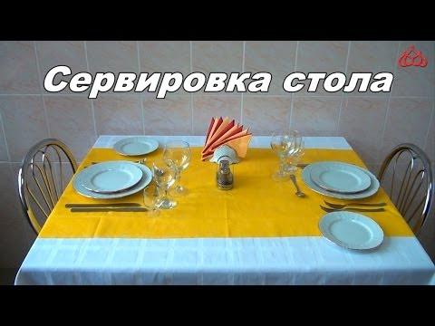 Сервировка стола (элементарные понятия)