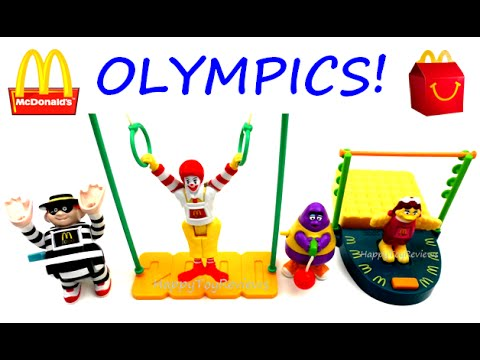 McDONALD'S OLYMPIC GAMES HAPPY MEAL TOYS SET OF 4 2000 SYDNEY + 2016 RIO OLYMPICS SNEAK PEAK REVIEW