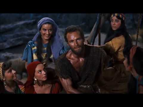 "Moses meets Jethro's daughters - ""The Ten Commandments"" - Charlton Heston"