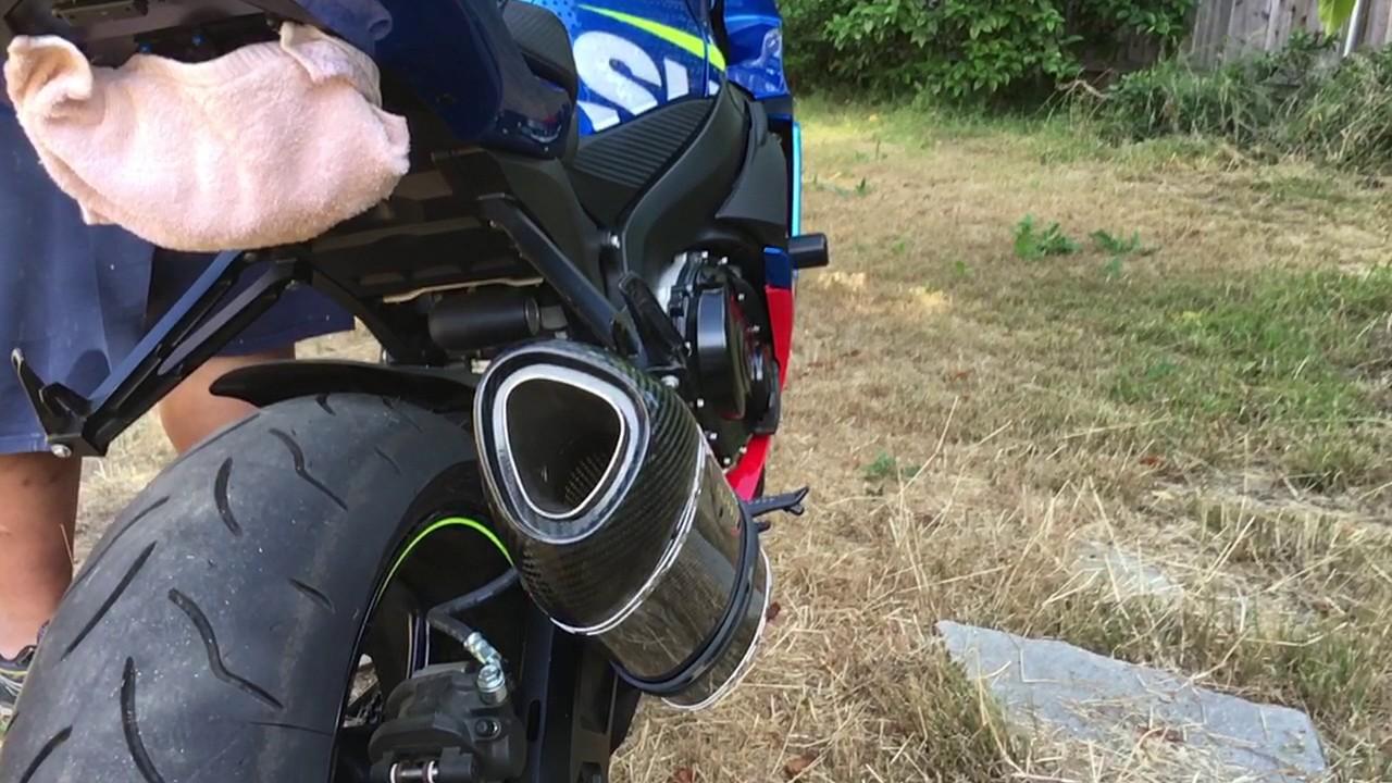 2016 suzuki gsx r 600 yoshimura alpha slip on exhaust no baffle