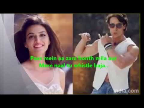 Mere Naal Tu Whistle Baja Song From heropanti Video Lyrics