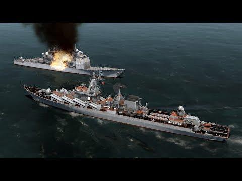 DCS: Slava-class vs US Navy Ticonderoga - Tuần dương hạm đại chiến.