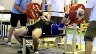 Thomas Sørensen løfter 287.50 kg, EM bænkpres 2010, Bratislava.