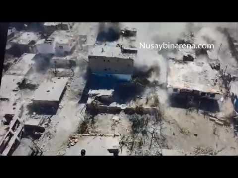 Nusaybin'deki Top Atışların Havadan Görüntüsü