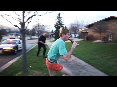 Drunk guy tazed by police officer (Original)
