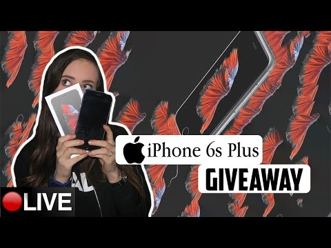 IPHONE 6S PLUS GIVEAWAY!! | LIVE