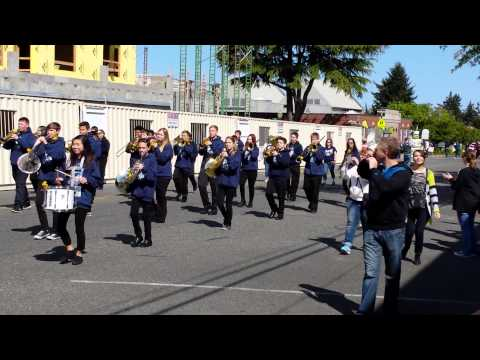 Surprise Lake Middle School Marching Band. Jr. Daffodil Parade 2015