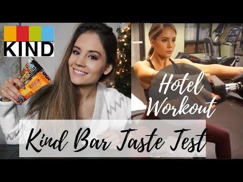 KIND BAR TASTE TEST | 30 min Hotel Shoulder Workout