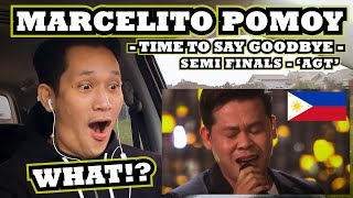 INDONESIAN REACTION to Marcelito Pomoy - Time To Say Goodbye - SEMIFINALS FULL PERFORMANCE at 'AGT'