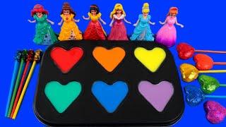 Satisfying Video / DIY / How To Make Rainbow Pool With Disney Princess ASMR ~ Rainbow  Bon Bon