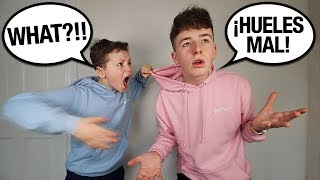 SPEAKING ONLY SPANISH TO LITTLE BROTHER FOR 24 HOURS! (he went crazy...)