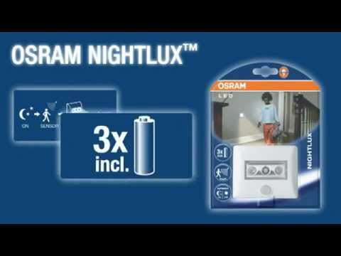 osram nightlux mozg s rz kel s elemes led l mpa youtube. Black Bedroom Furniture Sets. Home Design Ideas