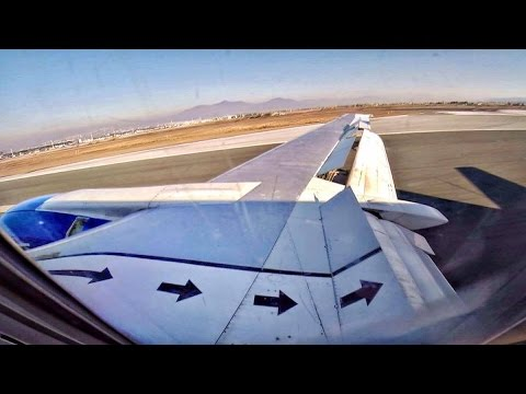 Boeing 737-400 Classic | Approach and Landing @ LGTS | GoPro Wing View | Blue Air