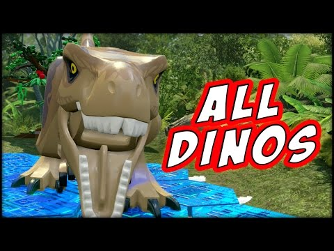 LEGO Jurassic World - ALL DINOSAURS UNLOCKED!