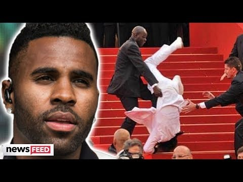 Did Jason DeRulo FALL At The Golden Globes?