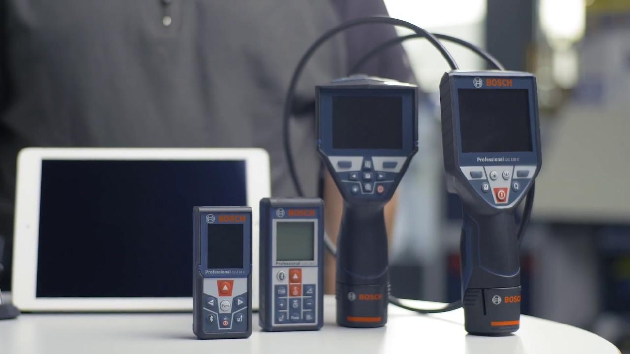 Infrarot Entfernungsmesser Bosch : Bosch messtechnik mobil auf der baustelle youtube